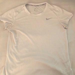 Nike Dri-Fit White Short Sleeved Shirt